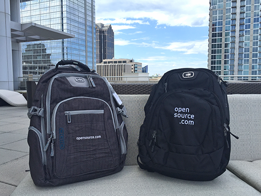 Opensource.com backpacks