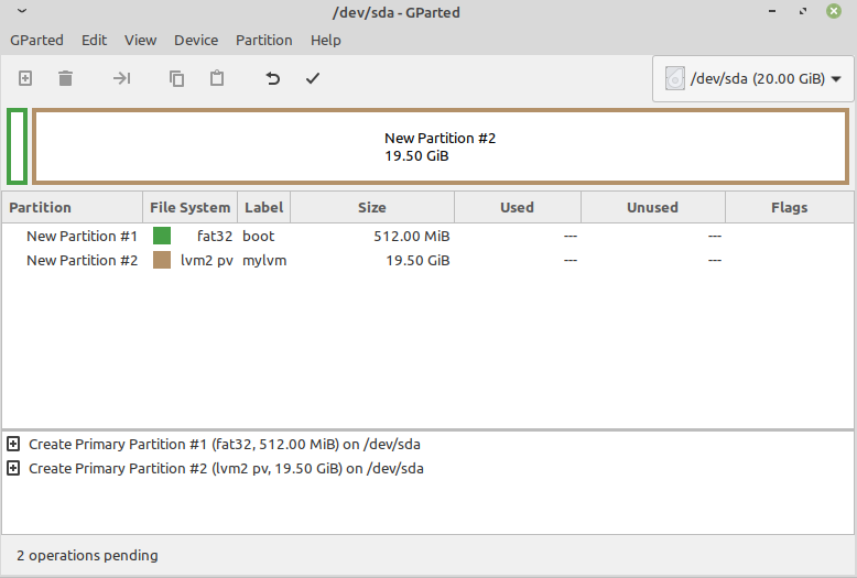 Partition layout