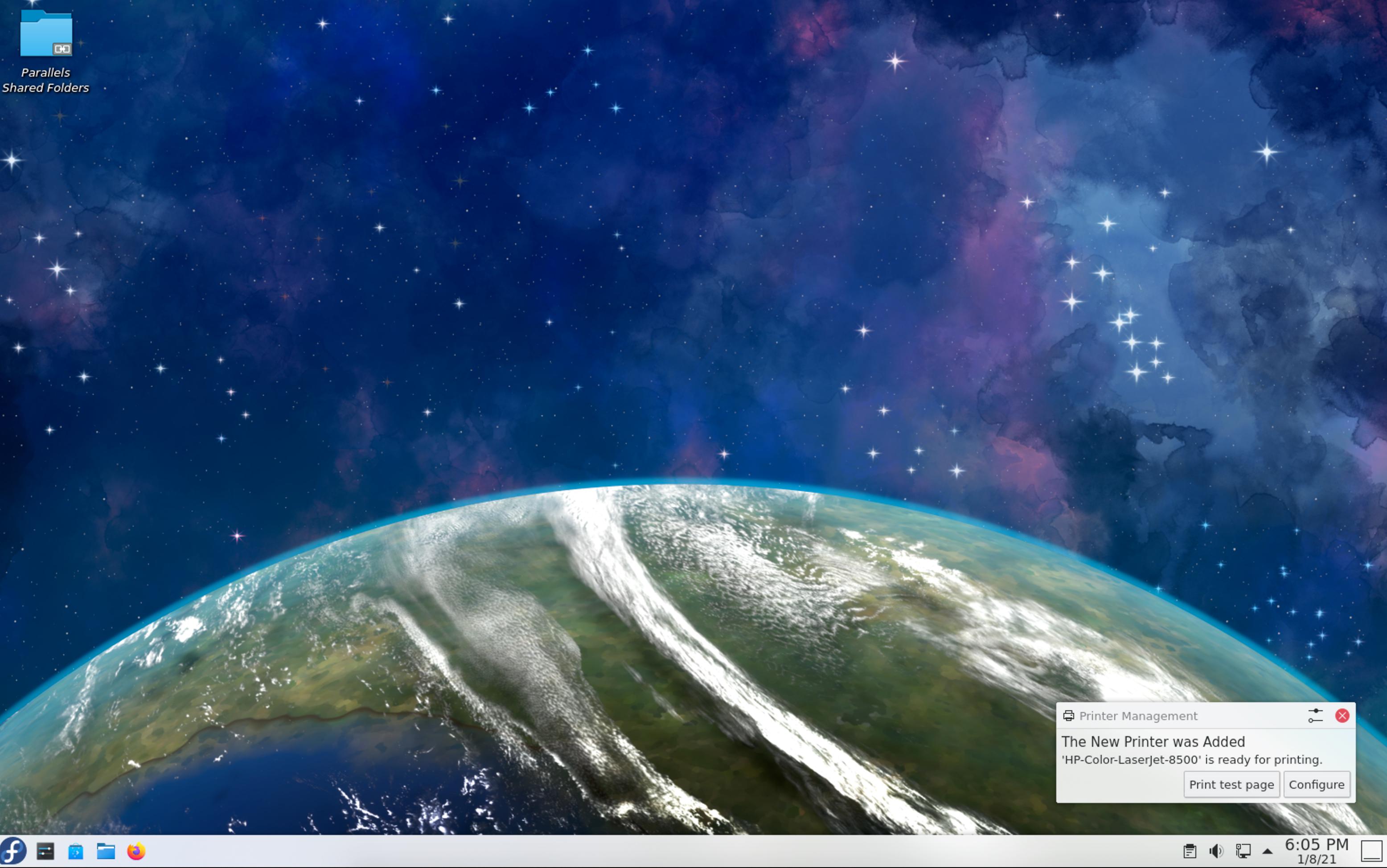 Fedora KDE Spin Default Desktop