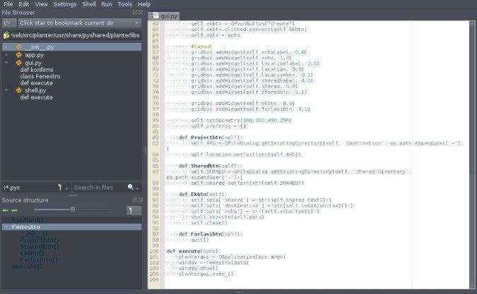 Screenshot of Pyzo Python IDE