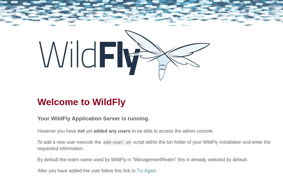WildFly welcome page
