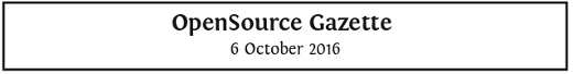 OpenSource Gazette sample banner with date