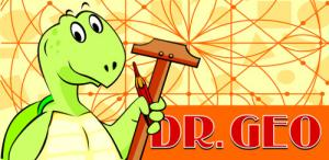 Dr. Geo title screen.