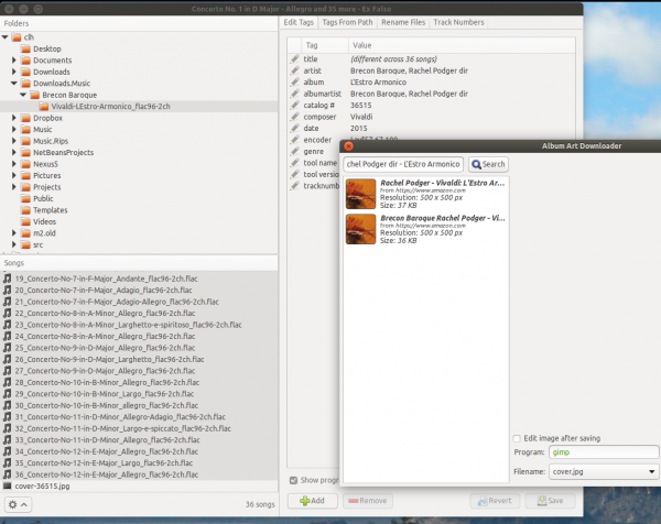 ExFalso's album art downloader