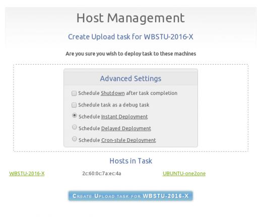 FOG create upload task menu