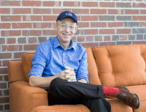 Bob Young CEO of Lulu on couch