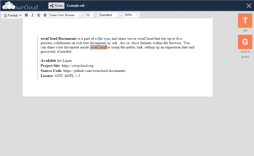 ownCloud desktop screenshot