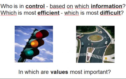 roundabout traffic light