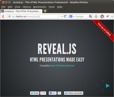 Reveal.js screenshot