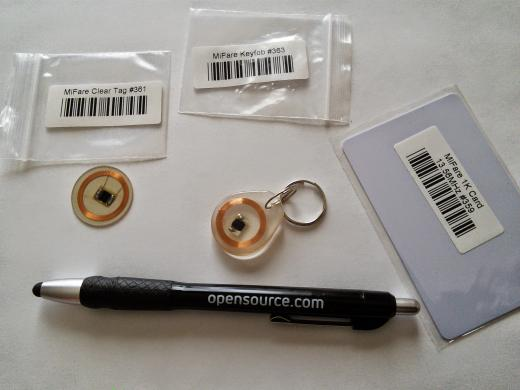 Pictures of multiple types of RFID tags