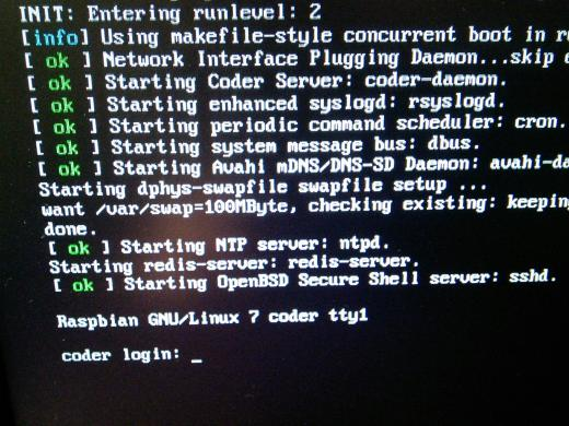 Booting process as Coder set up the Raspberry Pi as a Server