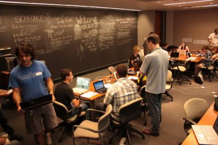 Students at a UPenn hackathon