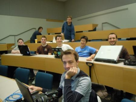 The Western New England College team at a GNOME hackfest