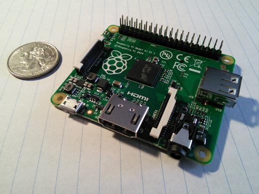 Picture of the Raspberry Pi model A+