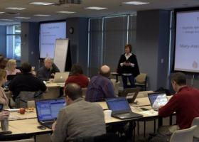 Mary-Ann Baldwin talks at Triangle Wiki Day
