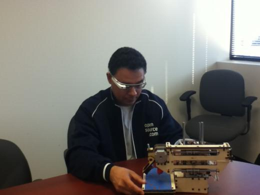 Luis Ibanez wearing Google Glass