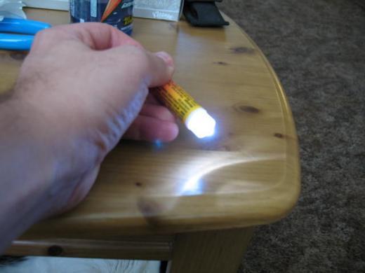 Chapstick LED flashlight