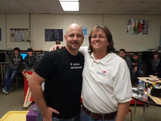 Chase Crum and his mentor / teacher