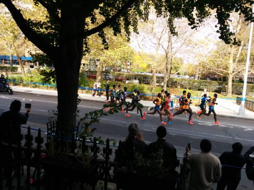 Front runners at the New York city Marathon
