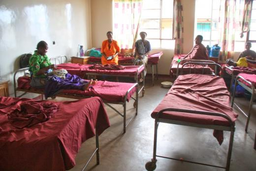 Maternity ward at the 400-bed Haydom Lutheran Hospital in Tanzania, Africa.