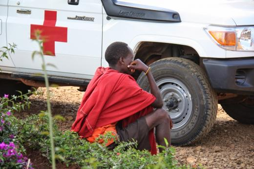 Outside of the hospital in Tanzania