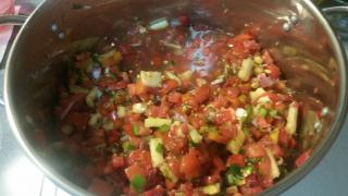 Jason Hibbets Salsa Recipe in pot