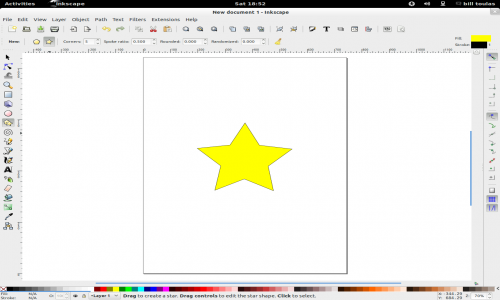 star image in Inkscape