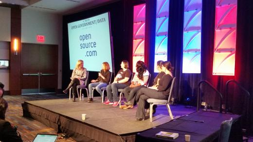 Women in open source panel at All Things Open conference 2014