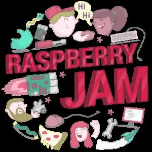 Raspberry Jam logo.