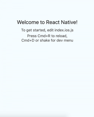 React Native welcome screen