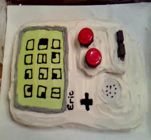 skiff's gameboy cake