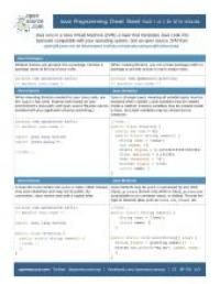 java-cheat-sheet