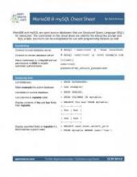 mariadb-mysql-cheat-sheet