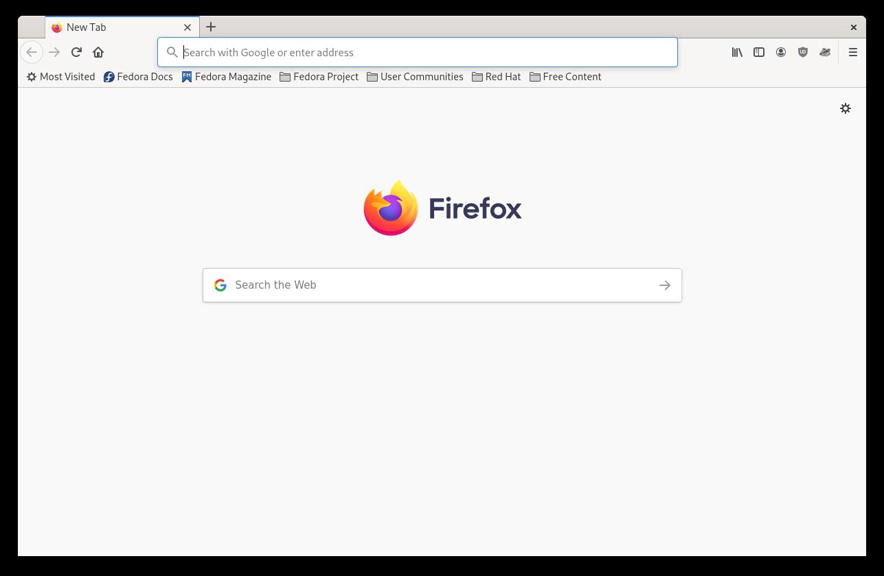 Firefox user interface
