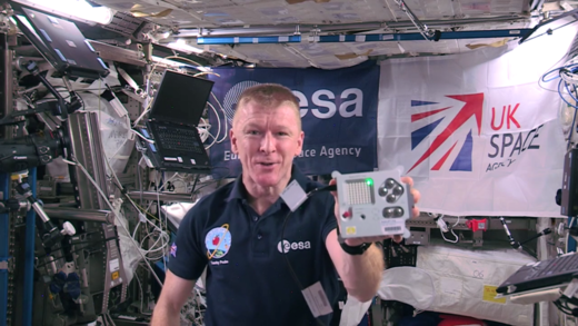 Tim Peake in the International Space Station