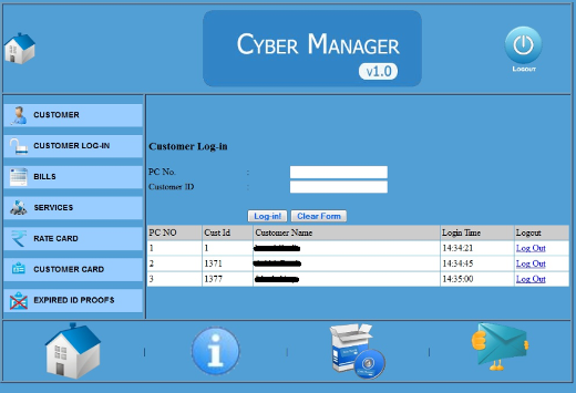 customer login module view