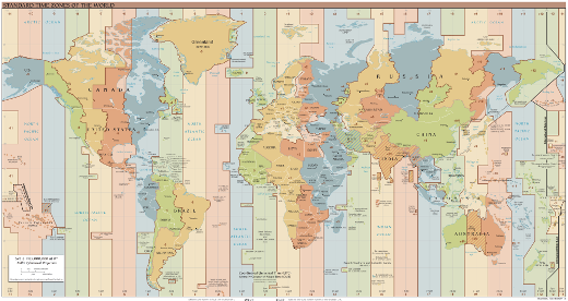 Time zones maps
