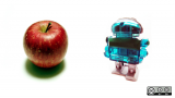 Robots deliver apples to teachers at school