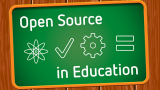 Open Source in Education chalkboard
