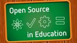 Open Source in Education chalkboard