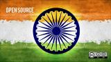 Indian flag with text: open source
