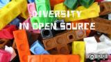 multi-colored blocks for Diversity in Open Source series