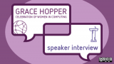 Grace Hopper Open Source Day interview (purple word bubble)