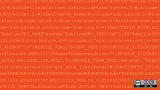 Lines of code, orange background