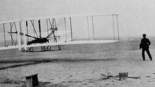 Wright Brothers first flight via NASA