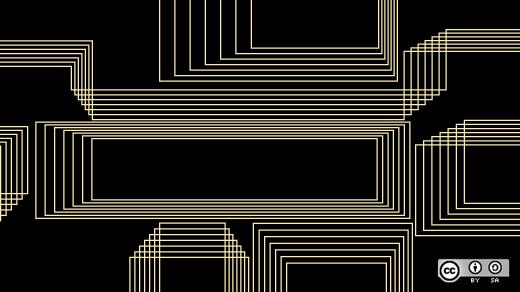 boxes on black background