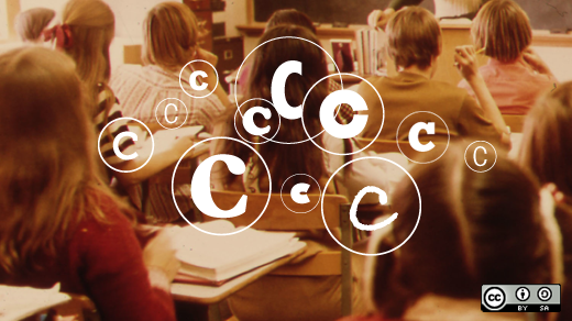 Open education resources with copyright symbols