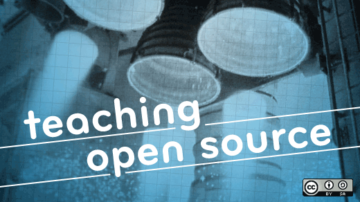 Teaching open source text