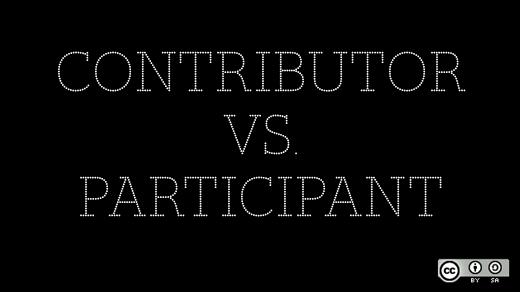 Contributor versus participant