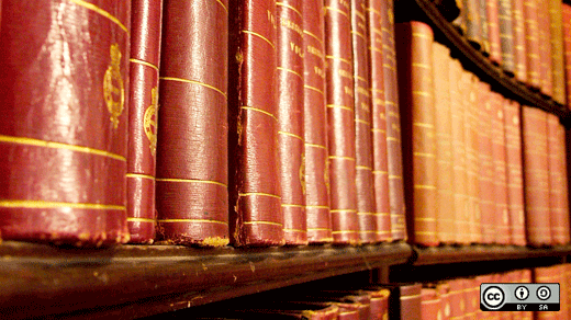 Law books in a library
